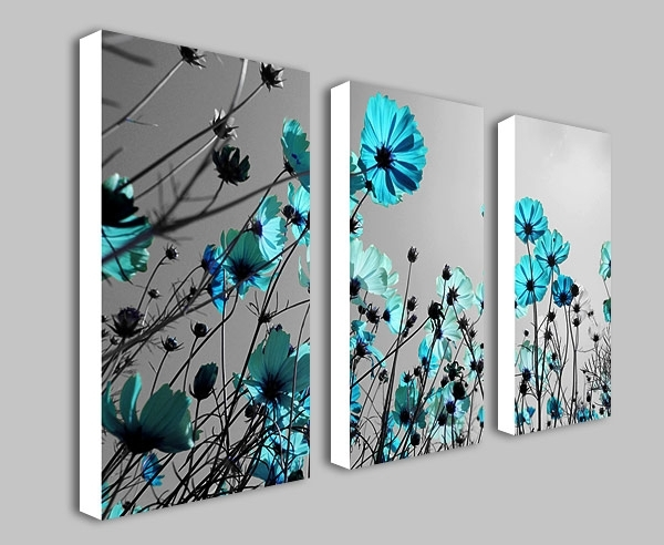 Diverting Teal Canvas Wall Art   Bargainfindsonebay In Teal Wall Art (Image 2 of 10)