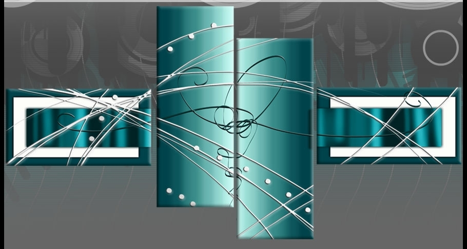 Diverting Teal Canvas Wall Art   Bargainfindsonebay Intended For Teal Wall Art (Image 3 of 10)