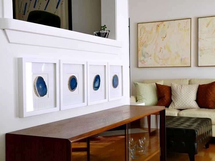 Diy Agate Wall Art | Popsugar Home Pertaining To Agate Wall Art (View 10 of 25)