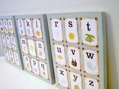 Diy: Alphabet Wall Art / Kids Rooms – Juxtapost For Alphabet Wall Art (Image 13 of 25)