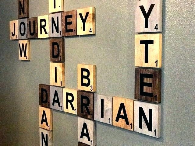 Diy Baby Wall Art Name Wall Decor Scrabble Wall Art Ideas On On Baby Within Name Wall Art (View 11 of 25)