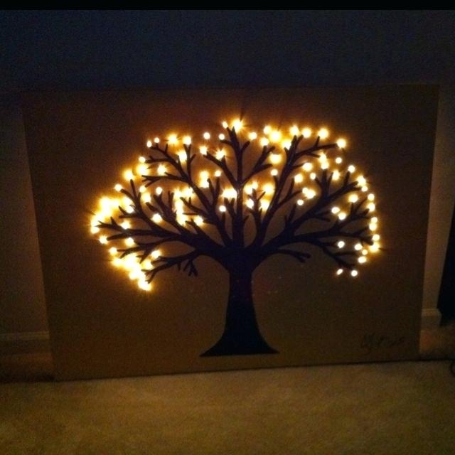 Diy Canvas Light Up Wall Art Diy Canvas Light Up Wall Art In Light Up Wall Art (View 13 of 25)