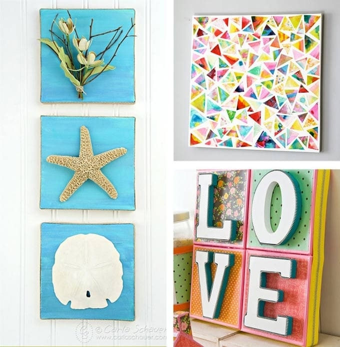 Diy Canvas Wall Art Ideas: 30+ Canvas Tutorials For Wall Art Diy (View 18 of 25)