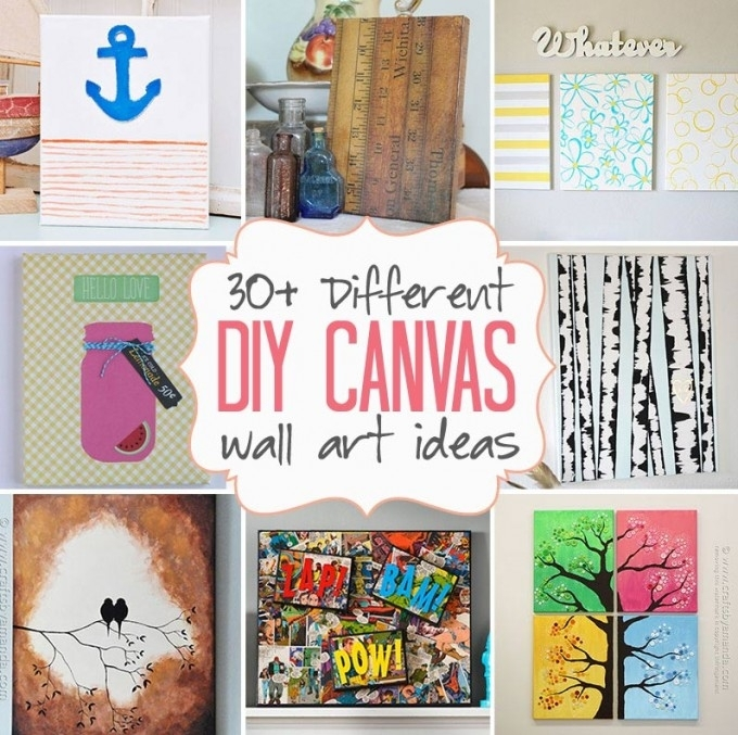 Diy Canvas Wall Art Ideas: 30+ Canvas Tutorials Intended For Diy Wall Art Projects (Image 18 of 25)