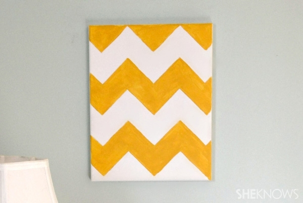 Diy Chevron Wall Art Pertaining To Chevron Wall Art (View 5 of 25)