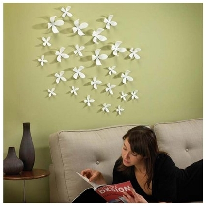 Diy: Easy Paper Wall Art (Inspiredumbra Wallflowers) | Rabit Stew In Paper Wall Art (View 24 of 25)