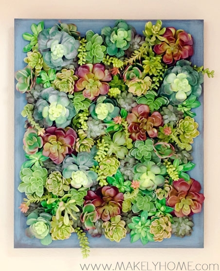 Diy Fake Succulent Hanging Garden Tutorial With Succulent Wall Art (Image 6 of 25)