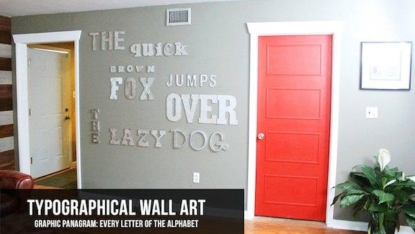 Diy Faux Metal Letter Wall Art | Knock It Off! | The Live Well Network Throughout Metal Letter Wall Art (Image 4 of 25)