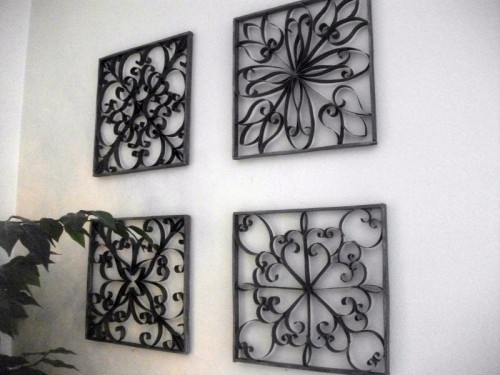 Diy Faux Wrought Iron Wall Art – Shelterness Inside Wrought Iron Wall Art (Image 2 of 10)