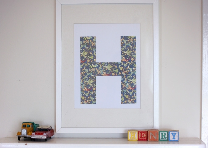 Diy: Framed Letter Wall Art Within Letter Wall Art (Image 6 of 25)