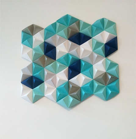 Diy: Geometric Paper Wall Art – Jam Blog Within Paper Wall Art (Image 11 of 25)