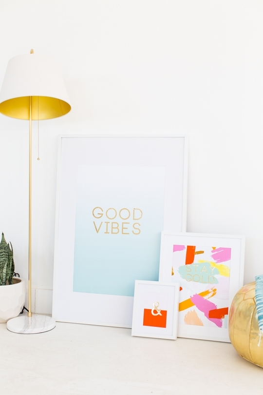 Diy Gold Foil Wall Art And Printables | Sugar & Cloth Intended For Gold Foil Wall Art (Image 4 of 25)