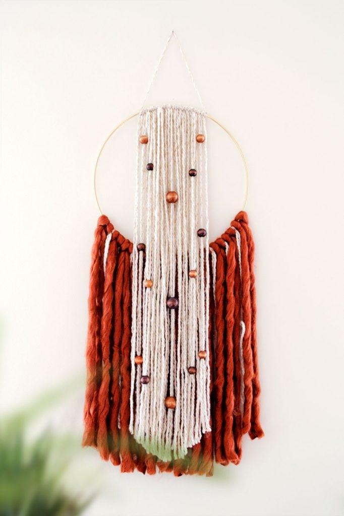 Diy Hoop Yarn Wall Hanging – Urk Art Within Yarn Wall Art (Image 8 of 25)