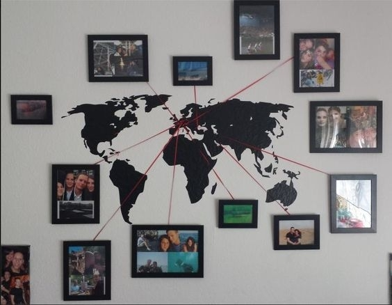 Diy Ideas & Inspirations From Hobby Lobby | Othrrr | Pinterest Inside Wall Art World Map (Image 4 of 25)