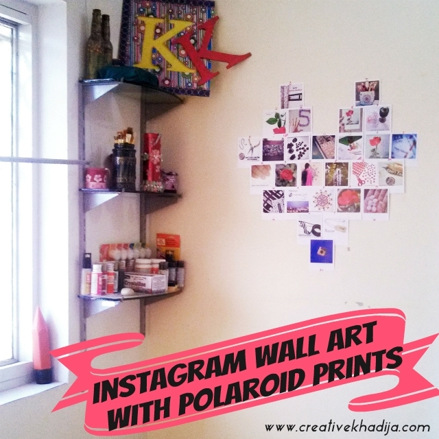 Diy Instagram Wall Art With Polaroid Prints Throughout Instagram Wall Art (Image 3 of 20)