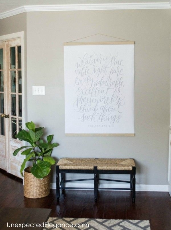 Diy Large Wall Art For Less Than $20 | Entryways | Pinterest | Art For Diy Wall Art (Image 9 of 10)