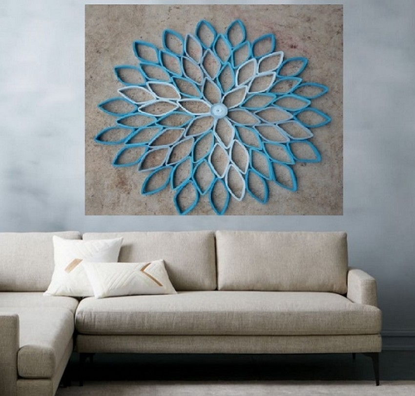 Diy Living Room Wall Decor Modern Areas   Jeffsbakery Basement Throughout Wall Art Ideas For Living Room (Image 8 of 25)