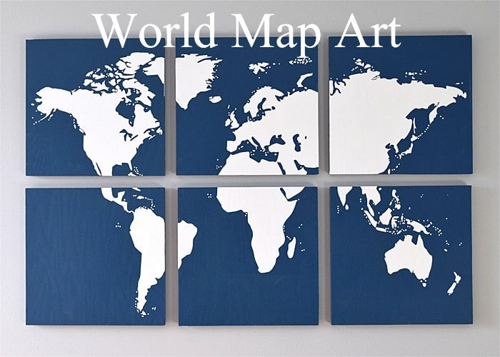 Diy Map Art For The Wall – Regarding Diy World Map Wall Art (Image 9 of 25)