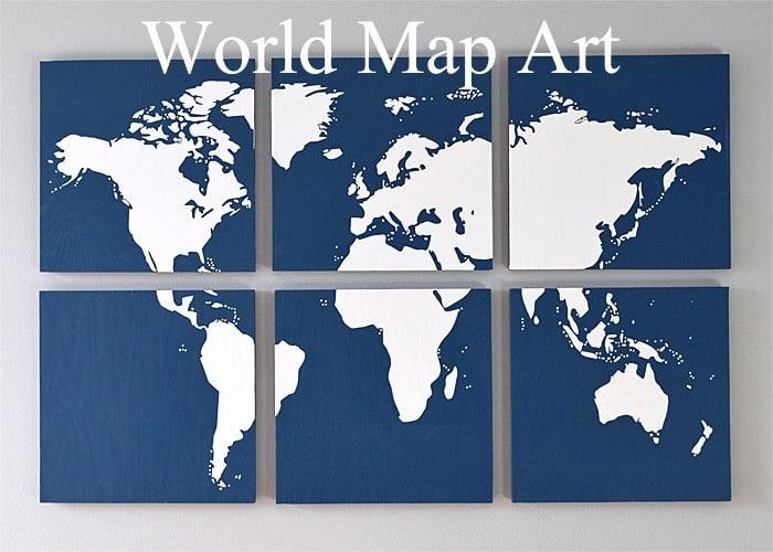 Diy Map Art For The Wall – Regarding Diy World Map Wall Art (View 4 of 25)