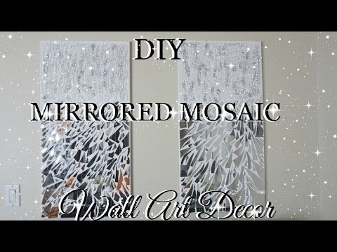 Diy Mirror Mosaic Wall Art Pier One Inspired | Petalisbless Regarding Mirror Mosaic Wall Art (Image 8 of 25)