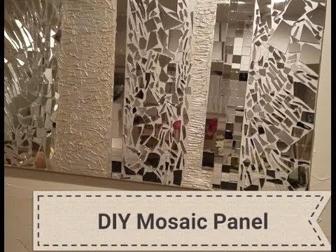 Diy: Mirrored Mosaic Wall Art! Diy Wall Decor (Easy & Cheap) 2017 Throughout Mirror Mosaic Wall Art (Image 11 of 25)
