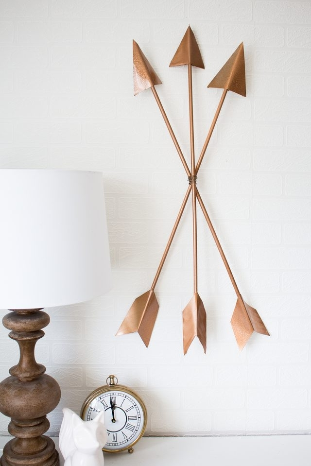 Diy Modern Arrow Wall Art | Ehow In Arrow Wall Art (Image 12 of 20)