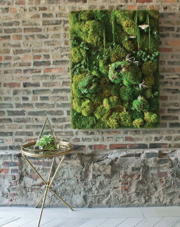 Diy Modern Moss Wall Art Design With Regard To Moss Wall Art (Image 7 of 25)