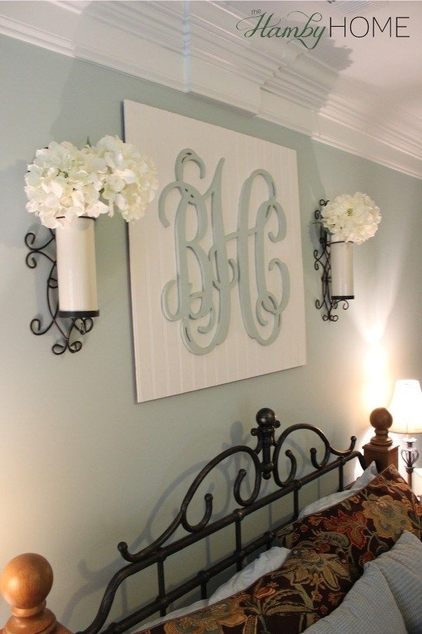 Diy Monogram Wall Art | The Hamby Home | Can Do Pinners | Pinterest In Monogram Wall Art (Image 6 of 25)