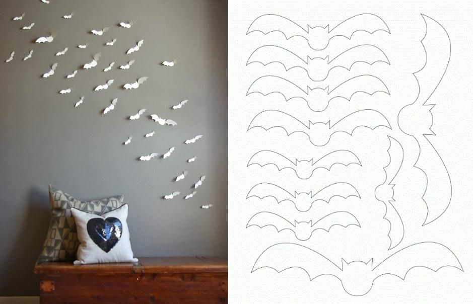 Diy Paper Bat Wall Art Pictures, Photos, And Images For Facebook Intended For Paper Wall Art (View 19 of 25)