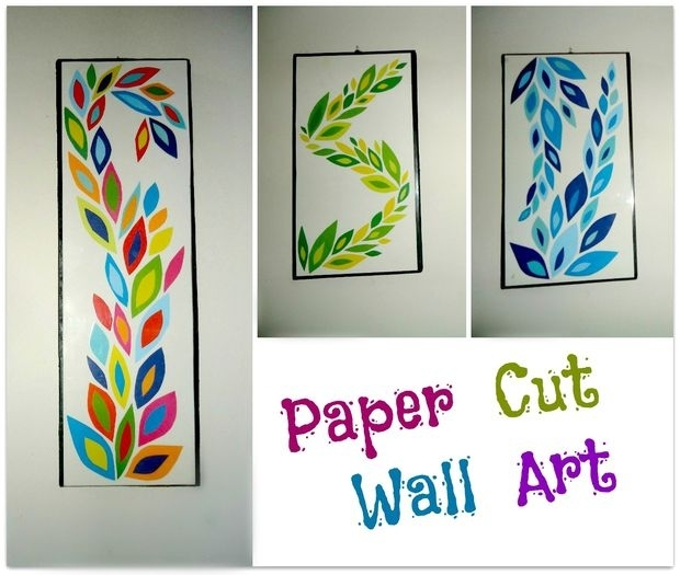Diy Paper Cut Wall Art: 6 Steps (With Pictures) In Paper Wall Art (Image 7 of 25)