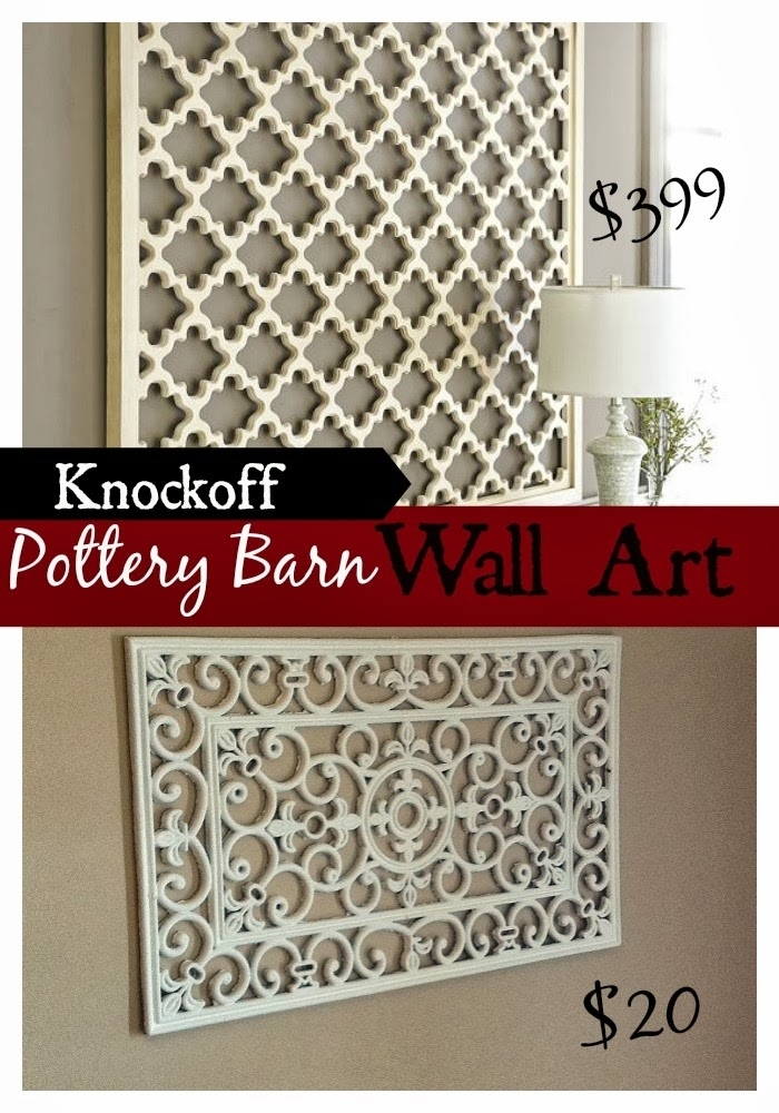 Diy Pottery Barn Wall Art Knockoff! – Fun Cheap Or Free Intended For Pottery Barn Wall Art (View 7 of 10)