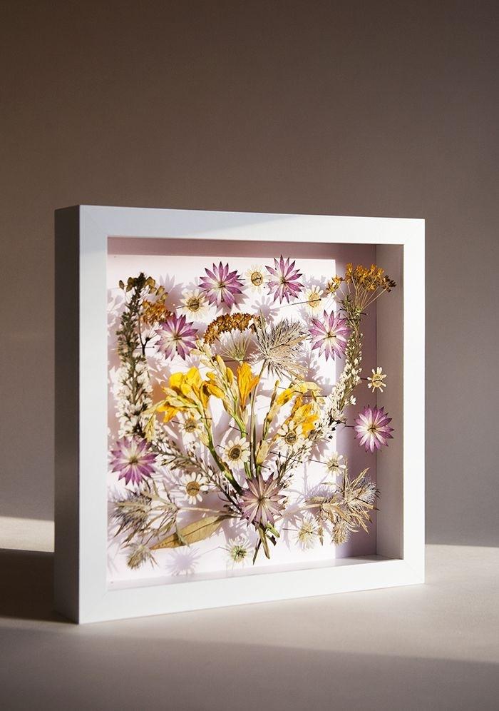 Diy Pressed Flower Wall Art   Cool Dyi/crafts   Pinterest   Wall Art With Flower Wall Art (Image 2 of 20)