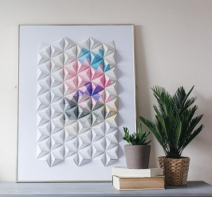 Diy Projects: Paper Wall Art For Your Rooms – Pretty Designs With Regard To Wall Art Diy (Image 20 of 25)