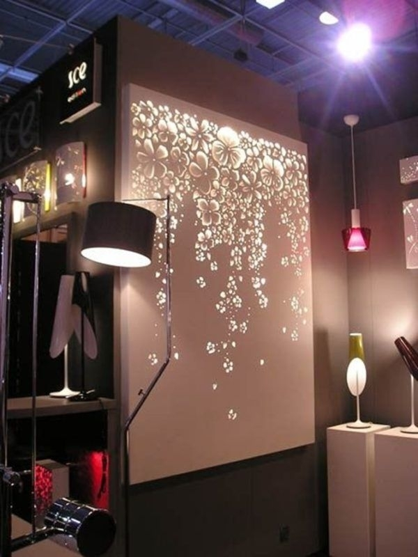 Diy String Light Backlit Canvas Art Ideas Crafts – Light Up Canvas Intended For Light Up Wall Art (Image 11 of 25)
