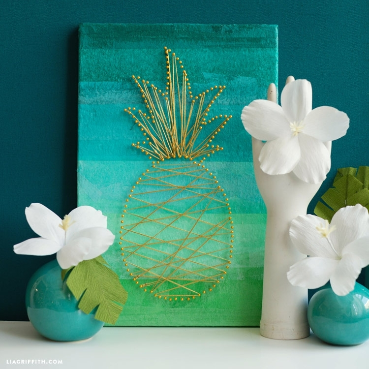 Diy Tropical Wall Art – Lia Griffith In Tropical Wall Art (Image 6 of 20)