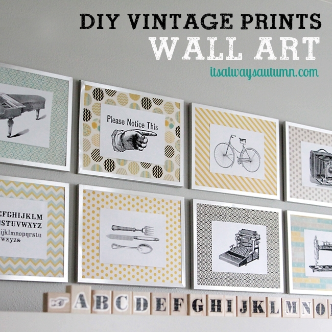 Diy Vintage Prints Wall Art – Bigdiyideas Throughout Vintage Wall Art (View 6 of 10)