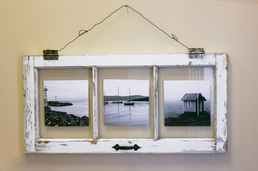 Diy Vintage Window Pane Photo Frame – Marc And Mandy Show Regarding Window Frame Wall Art (Image 1 of 10)