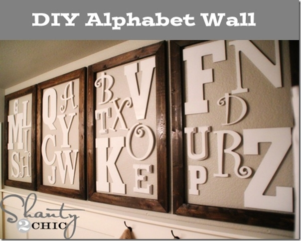 Diy Wall Art ~ Alphabet Wall – Shanty 2 Chic Intended For Alphabet Wall Art (Image 12 of 25)