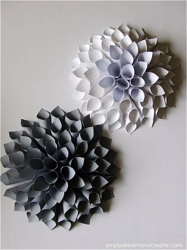 Diy Wall Art Beautiful Paper Wall Art – Wall Decoration Ideas For Paper Wall Art (Image 9 of 25)