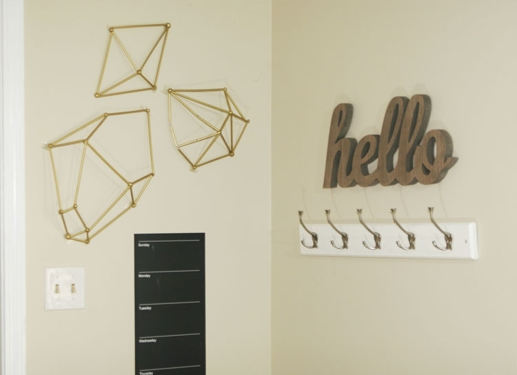 Diy Wall Art : Geometric Straw Shapes – Homemade Ginger With Geometric Wall Art (View 19 of 20)