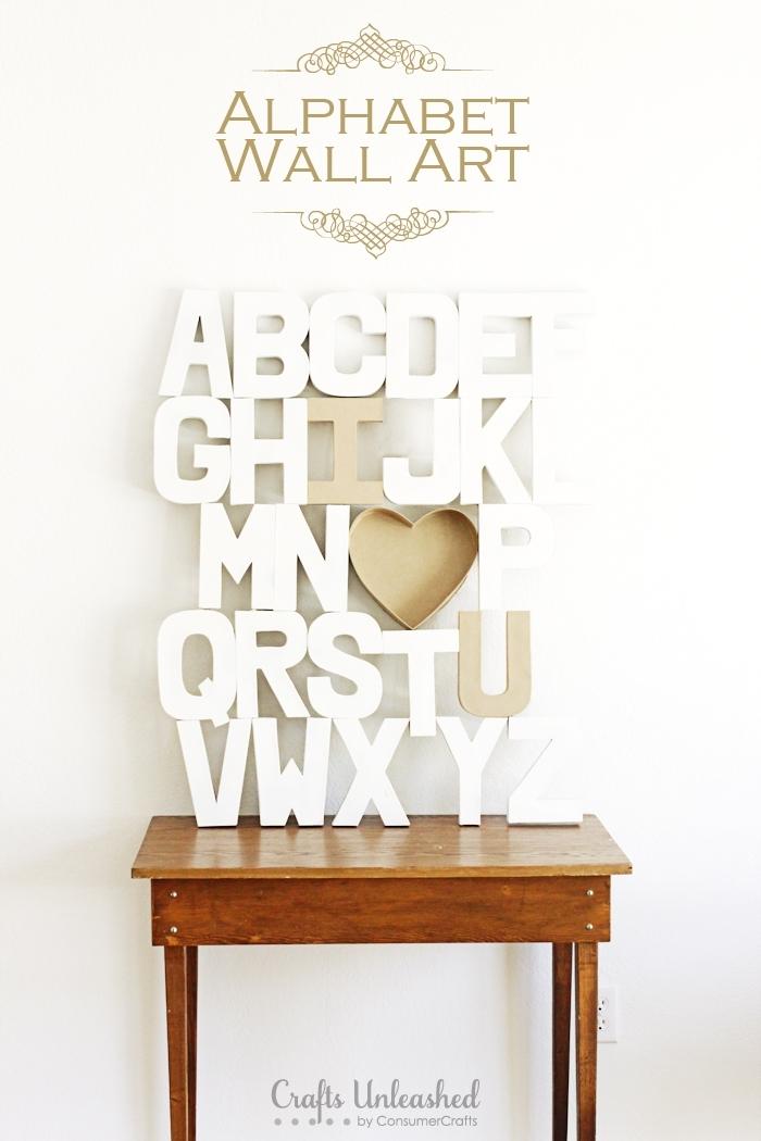 Diy Wall Art – Paper Mache Alphabet Craft In Alphabet Wall Art (View 4 of 25)