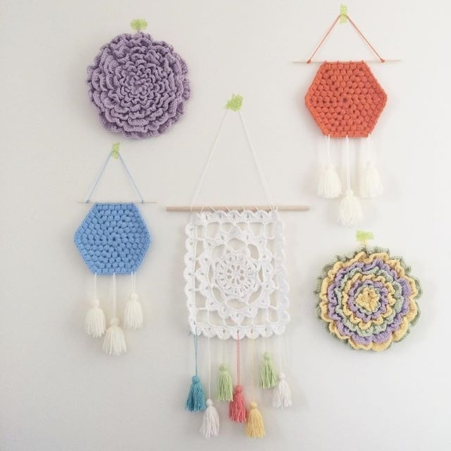 Diy Wall Hanging: Hexagon Crochet Pattern (Mollie Makes) | Hexagon Inside Crochet Wall Art (Image 15 of 20)