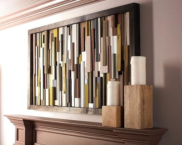 Diy Wooden Plank Wall Wall Art Awesome Gallery Wood Projects For Throughout Plank Wall Art (Image 5 of 20)