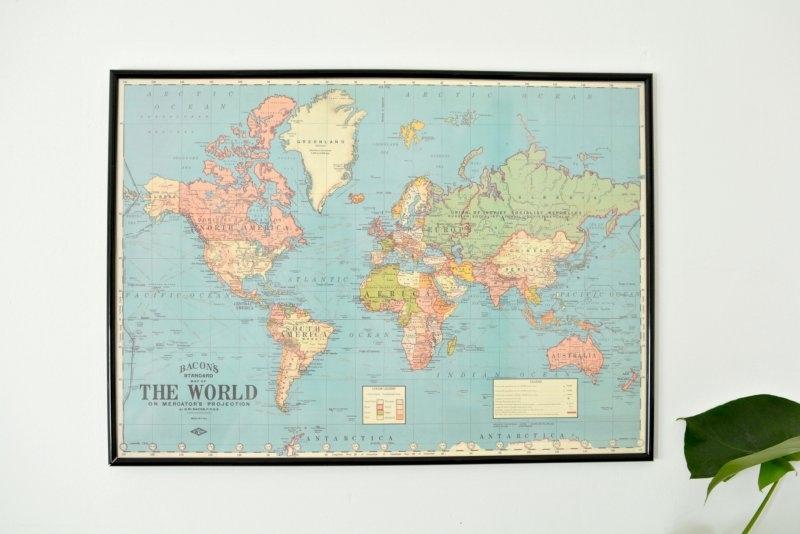 Diy World Map Wall Art | Burkatron Inside Diy World Map Wall Art (View 19 of 25)