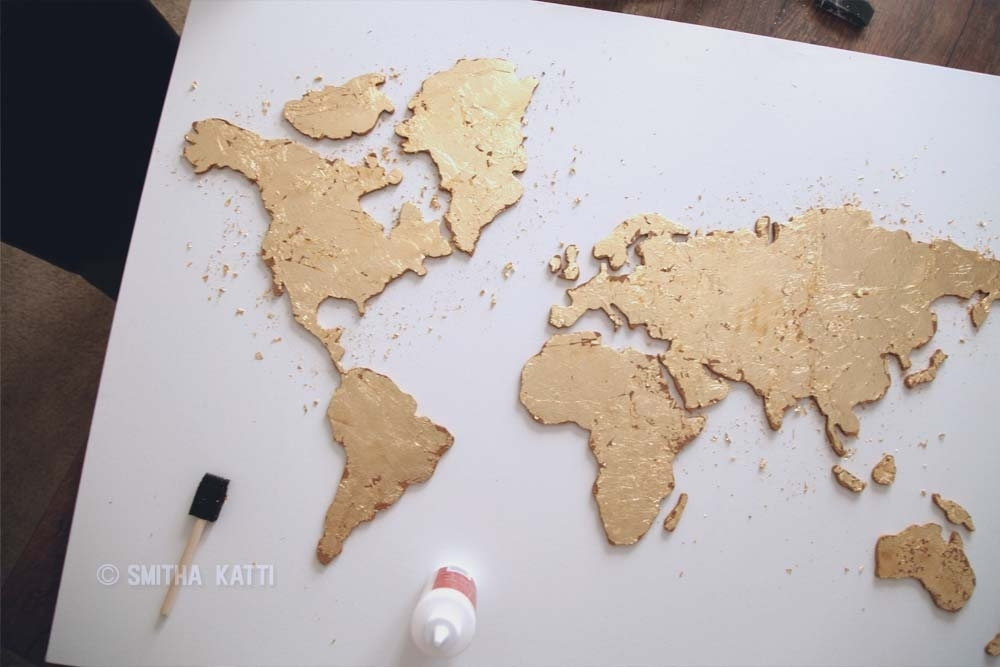 Diy World Map Wall Art That Is Easy To Make And Unique – Smitha Katti Within Diy World Map Wall Art (View 6 of 25)