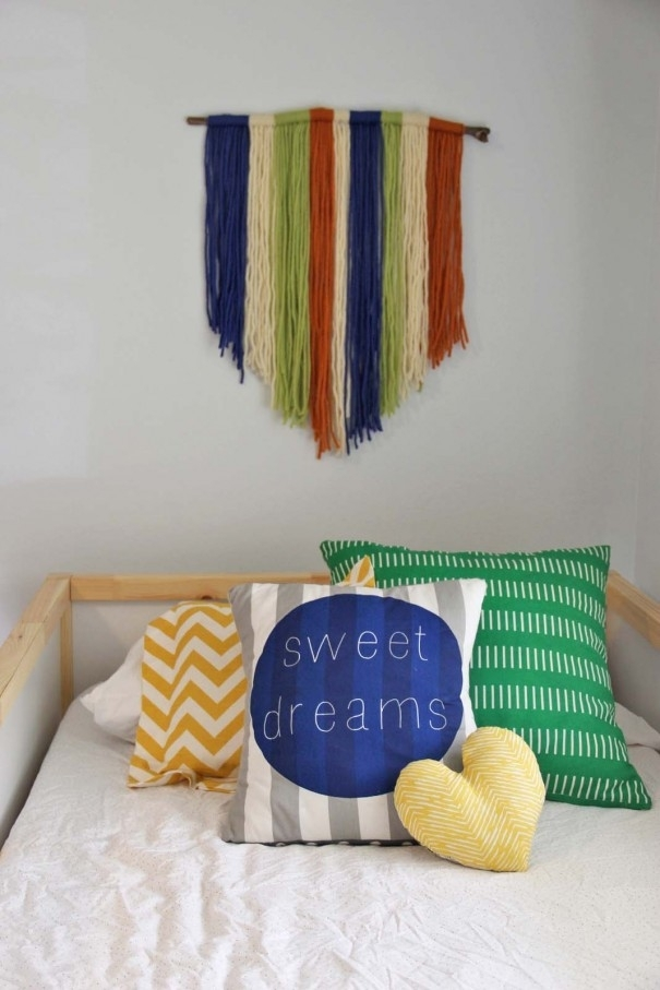 Diy Yarn Wall Art – Craft – Little Miss Momma Throughout Yarn Wall Art (Image 9 of 25)