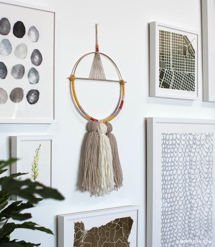 Diy Yarn Wall Hanging – Lia Griffith Throughout Yarn Wall Art (Image 10 of 25)