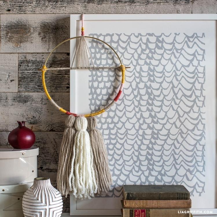 Diy Yarn Wall Hanging – Lia Griffith Within Yarn Wall Art (Image 11 of 25)
