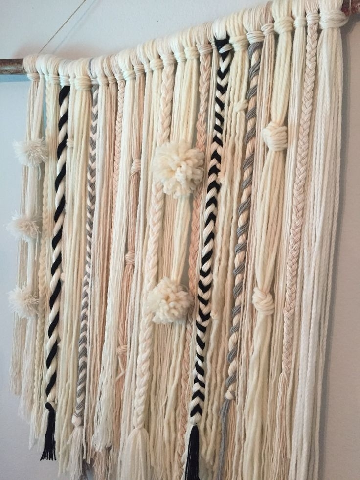 Diy Yarn Wall Hanging … | My Creations | Pinterest | Yarn Wall In Yarn Wall Art (Image 13 of 25)