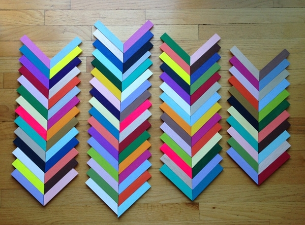 Diywednesday: Chevron Wall Art – Sa Décor & Design In Chevron Wall Art (View 19 of 25)
